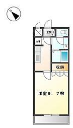 大阪府堺市西区原田の賃貸マンションの間取り