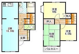 [一戸建] 神奈川県小田原市小台 の賃貸【/】の間取り