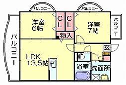 ルミエール21[4階]の間取り