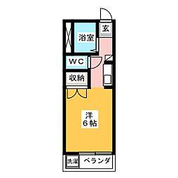 メイプル安東FII[1階]の間取り
