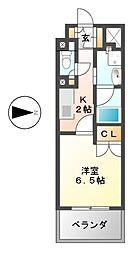 愛知県名古屋市中村区名駅3の賃貸マンションの間取り