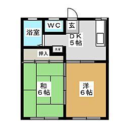 ハイツラヴァントA[2階]の間取り
