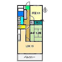 スカール衣ヶ島[2階]の間取り