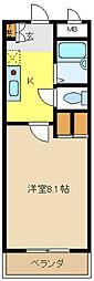 愛知県名古屋市緑区西神の倉2丁目の賃貸アパートの間取り
