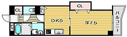 大阪府摂津市新在家2丁目の賃貸マンションの間取り