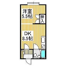 ドルチェ美園[1階]の間取り
