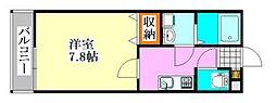 千葉県習志野市袖ケ浦1の賃貸アパートの間取り