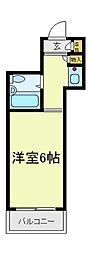 アップル天王寺[3階]の間取り