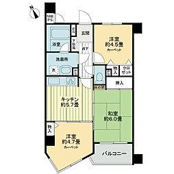ライオンズマンション新越谷[3階]の間取り
