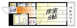 スカイブルー[2階]の間取り