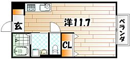 モナリエ横代[2階]の間取り
