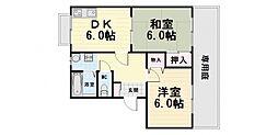 大阪府堺市西区浜寺船尾町西4丁の賃貸アパートの間取り