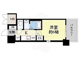 JR大阪環状線 今宮駅 徒歩6分の賃貸マンション 5階1Kの間取り