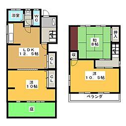 [一戸建] 岐阜県各務原市蘇原月丘町4丁目 の賃貸【/】の間取り