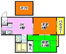 ファミール楠根 205号室[2階]の間取り
