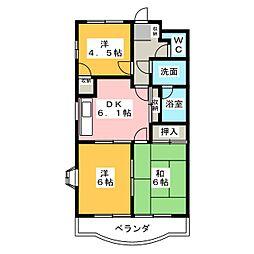 オーシャンハイム[3階]の間取り