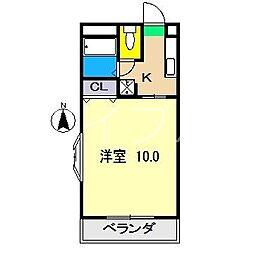 アレイ21[3階]の間取り