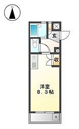 レジデンス藤[4階]の間取り