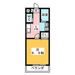 グリンヒル福岡[1階]の間取り