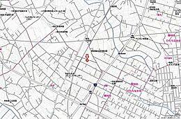 現地案内図 349号まで近くアクセス良好