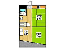 上垣第3ビル[6階]の間取り