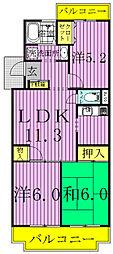 北柏グレースマンション[B-303号室]の間取り