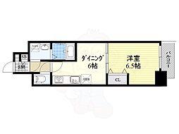 名古屋市営桜通線 高岳駅 徒歩6分の賃貸マンション 9階1DKの間取り