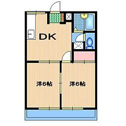 ハイツ原田[A203号室]の間取り