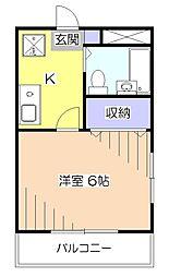 ロックケープハイム[5階]の間取り