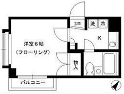 タウンコート細田[108号室]の間取り