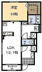エクセレント平和台 Ⅳ[1階]の間取り