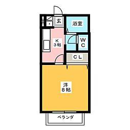 サン・friends二重堀I[1階]の間取り