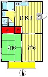 サニーハイツII[2階]の間取り