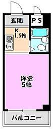 YOUハイム東巽[5階]の間取り