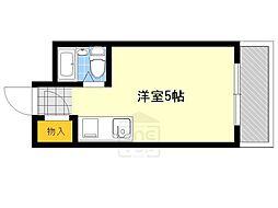 江坂ガーデンハイツ[4階]の間取り