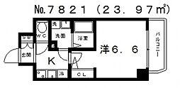 エスプレイス大阪城SOUTH(サウス)[1301号室号室]の間取り