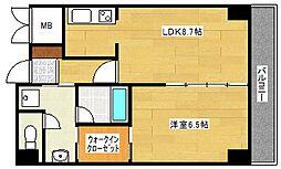 グレース帝塚山[6階]の間取り
