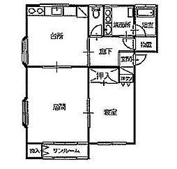 シャトーム加福[B-1号室]の間取り