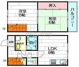 [テラスハウス] 大阪府吹田市垂水町3丁目 の賃貸【/】の間取り