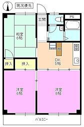 長野県松本市鎌田1丁目の賃貸マンションの間取り