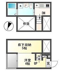 シェルト氷室[1階]の間取り