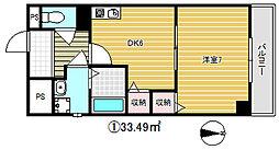 シャトル新深江[9階]の間取り