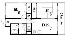 パレス入江[2階]の間取り