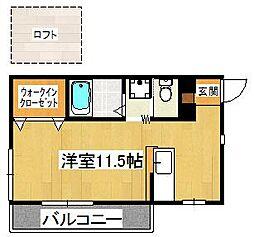 Casa22[201号室]の間取り