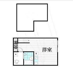 東京都大田区羽田3丁目の賃貸アパートの間取り