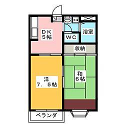 プランドール高崎B[2階]の間取り