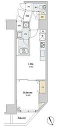 JR山手線 新橋駅 徒歩7分の賃貸マンション 6階1LDKの間取り