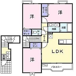 大阪府茨木市上野町の賃貸アパートの間取り