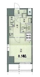 ユリカロゼ篠崎駅前 7階1Kの間取り