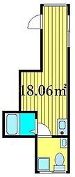 東京メトロ日比谷線 三ノ輪駅 徒歩4分の賃貸マンション 3階ワンルームの間取り